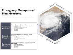 Emergency Management Plan Measures Ppt PowerPoint Presentation Gallery Graphics Example PDF