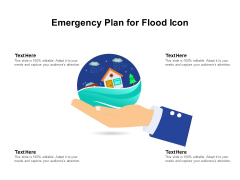 Emergency Plan For Flood Icon Ppt PowerPoint Presentation File Slide Portrait PDF