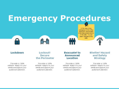 Emergency Procedures Ppt PowerPoint Presentation Summary Background Images