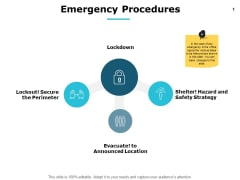 Emergency Procedures Security Ppt PowerPoint Presentation Icon Styles