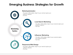 Emerging Business Strategies For Growth Ppt PowerPoint Presentation File Portfolio PDF