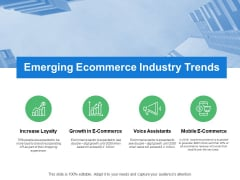 Emerging Ecommerce Industry Trends Mobile E Commerce Ppt PowerPoint Presentation Professional Inspiration