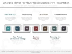 Emerging Market For New Product Example Ppt Presentation