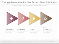 Emerging Market Plan For New Product Powerpoint Layout