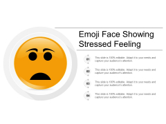 Emoji Face Showing Stressed Feeling Ppt Powerpoint Presentation Ideas Portrait
