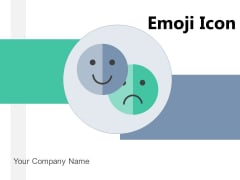 Emoji Icon Anxiety Reflecting Emotion Icon Ppt PowerPoint Presentation Complete Deck