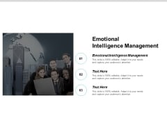 Emotional Intelligence Management Ppt PowerPoint Presentation File Example Cpb