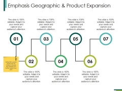 Emphasis Geographic And Product Expansion Ppt PowerPoint Presentation Visual Aids
