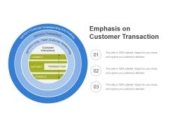 Emphasis On Customer Transaction Ppt PowerPoint Presentation Professional Design Templates