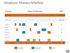 Employee Absence Schedule Ppt PowerPoint Presentation Information