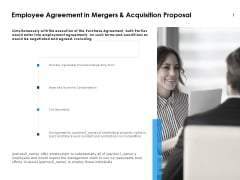Employee Agreement In Mergers And Acquisition Proposal Ppt PowerPoint Presentation Outline Template