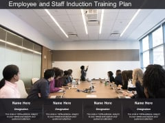 employee and staff induction training plan ppt powerpoint presentation inspiration slideshow