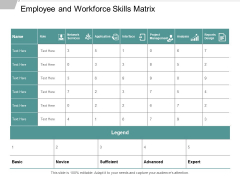 Employee And Workforce Skills Matrix Ppt Powerpoint Presentation Rules