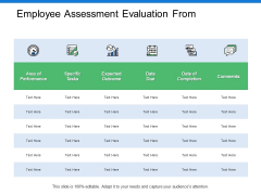 Employee Assessment Evaluation From Ppt PowerPoint Presentation Model Display