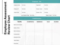 Employee Assessment Review Chart Initiative Ppt PowerPoint Presentation Styles Templates