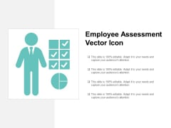 employee assessment vector icon ppt powerpoint presentation infographic template example