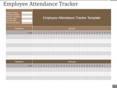 Employee Attendance Tracker Ppt PowerPoint Presentation Summary Example Topics