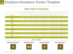 Employee Attendance Tracker Template Ppt PowerPoint Presentation Outline Shapes