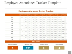 Employee Attendance Tracker Template Ppt PowerPoint Presentation Templates