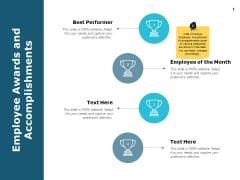 Employee Awards And Accomplishments Ppt PowerPoint Presentation Design Templates