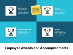 Employee Awards And Accomplishments Ppt PowerPoint Presentation Ideas Visuals