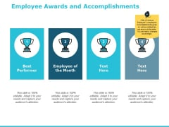 Employee Awards And Accomplishments Ppt PowerPoint Presentation Show Background Images