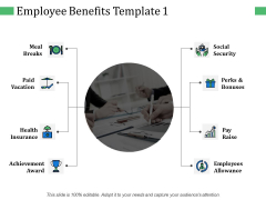Employee Benefits Achievement Award Ppt PowerPoint Presentation Summary Slideshow