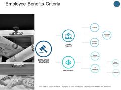 Employee Benefits Criteria Currency Ppt PowerPoint Presentation Summary Deck