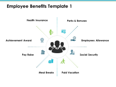 Employee Benefits Icons Employee Value Proposition Ppt PowerPoint Presentation Inspiration Designs