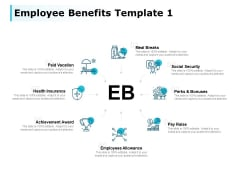 Employee Benefits Meal Breaks Ppt PowerPoint Presentation Icon Smartart