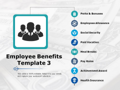 Employee Benefits Perks And Bonuses Ppt PowerPoint Presentation Model Master Slide