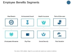 Employee Benefits Segments Pay Rise Ppt PowerPoint Presentation Ideas Icon