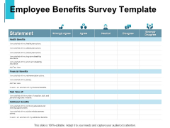 Employee Benefits Survey Template Ppt PowerPoint Presentation Infographic Template Icons
