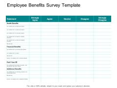 Employee Benefits Survey Template Ppt PowerPoint Presentation Inspiration Shapes