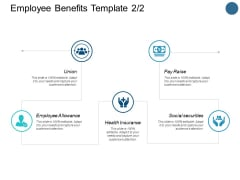 Employee Benefits Template Health Insurance Ppt PowerPoint Presentation Inspiration Diagrams
