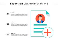 Employee Bio Data Resume Vector Icon Ppt PowerPoint Presentation Professional Clipart PDF