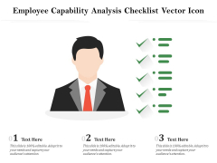 Employee Capability Analysis Checklist Vector Icon Ppt PowerPoint Presentation File Slide Download PDF