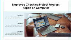 Employee Checking Project Progress Report On Computer Ppt PowerPoint Presentation Gallery PDF