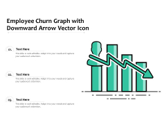 Employee Churn Graph With Downward Arrow Vector Icon Ppt PowerPoint Presentation Gallery Graphics Example PDF
