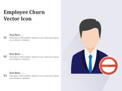 Employee Churn Vector Icon Ppt PowerPoint Presentation Model PDF