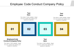 Employee Code Conduct Company Policy Ppt PowerPoint Presentation Styles Icon Cpb Pdf