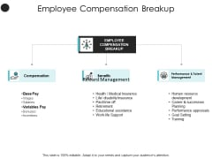 Employee Compensation Breakup Performance Ppt PowerPoint Presentation Infographics Guide