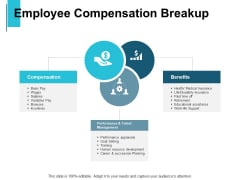 Employee Compensation Breakup Ppt PowerPoint Presentation File Structure