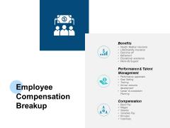 Employee Compensation Breakup Talent Management Ppt PowerPoint Presentation Layouts Slide