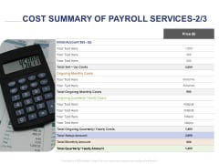 Employee Compensation Proposal Cost Summary Of Payroll Services Initial Ppt File Ideas PDF