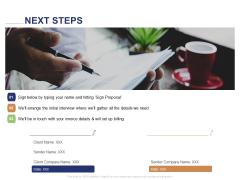 Employee Compensation Proposal Next Steps Ppt Pictures Diagrams PDF