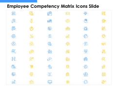 Employee Competency Matrix Icons Slide Ppt Slides Themes PDF