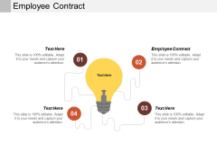 Employee Contract Ppt PowerPoint Presentation Inspiration Show Cpb
