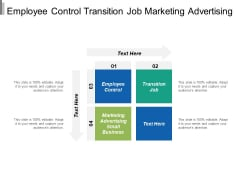 Employee Control Transition Job Marketing Advertising Small Business Ppt PowerPoint Presentation Outline Format Ideas