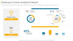 Employee Culture Analytical Report Inspiration PDF